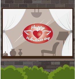 Día de San Valentín - corazón con alas