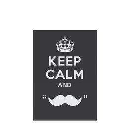 "Pegatina ""keep calm and grow a moustache"""