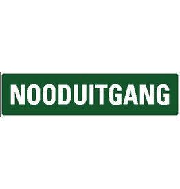 """Pegatina """"Nooduitgang"""""""