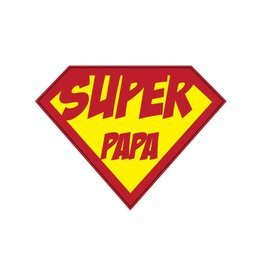 """Pegatina superhéroe """"Papa"""""""