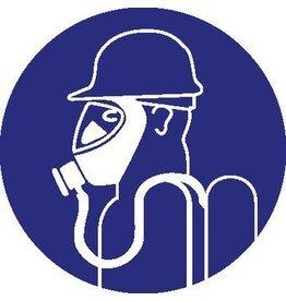 Pegatina protección respiratoria fuerte obligatorio