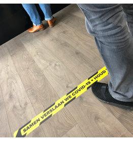 La pegatina de la línea del piso mantiene la distancia 1.5 metros (calidad superior)