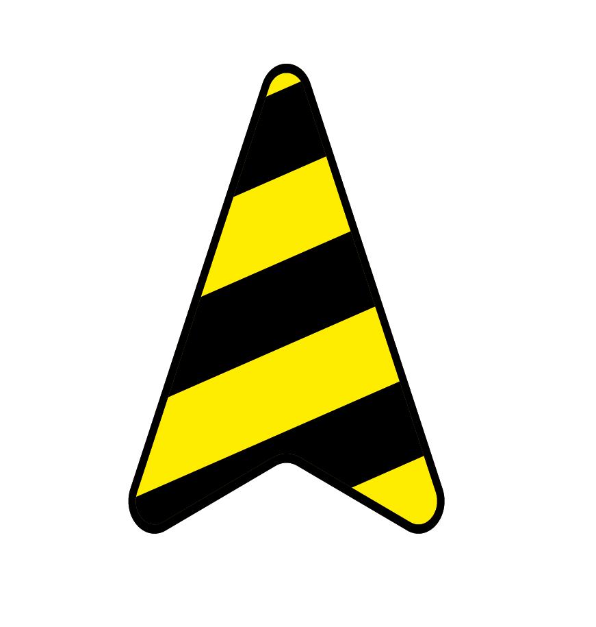 Vinilo decorativo flecha ruta corona