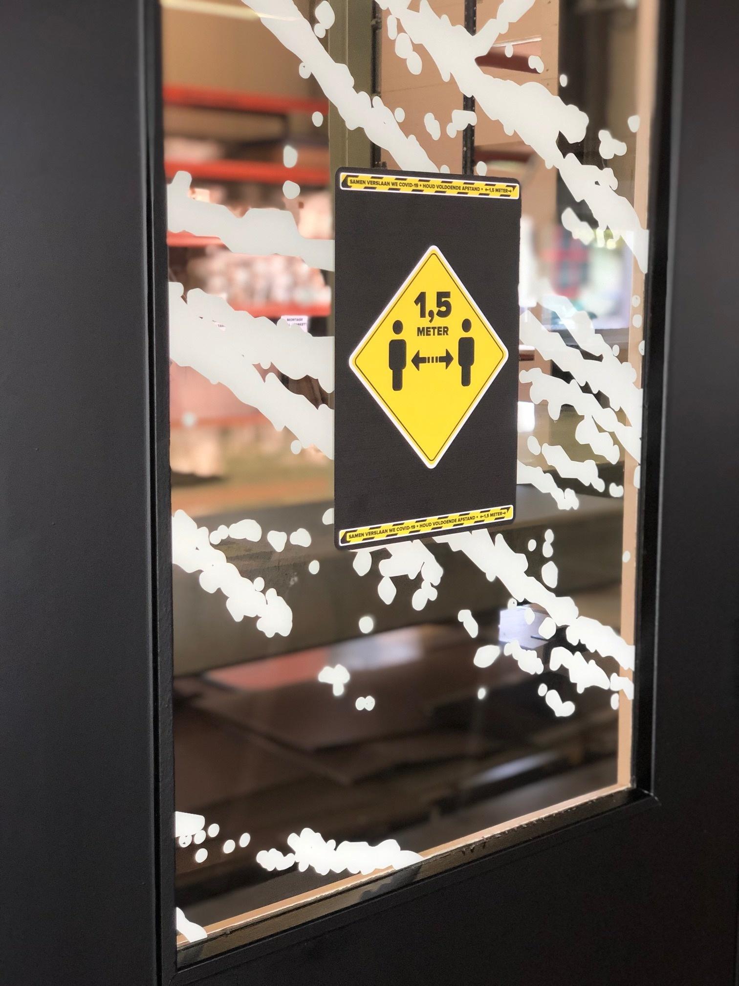 Pegatinas de advertencia: mantener alejado