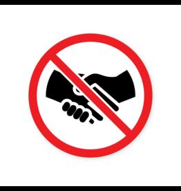 Easydot Wit Prohibición de pegatina estrechándole la mano