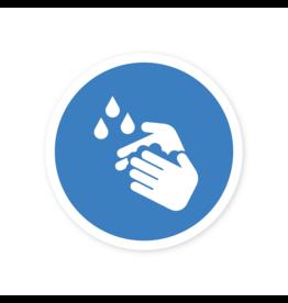Easydot Wit Etiqueta de lavado de manos obligatoria