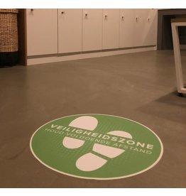 Etiqueta de suelo Zona de seguridad (42 cm redondo)