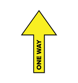 Vinilo adhesivo arrow One Way