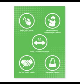 Easydot Wit Stickers A4: RIVM gobierna inglés