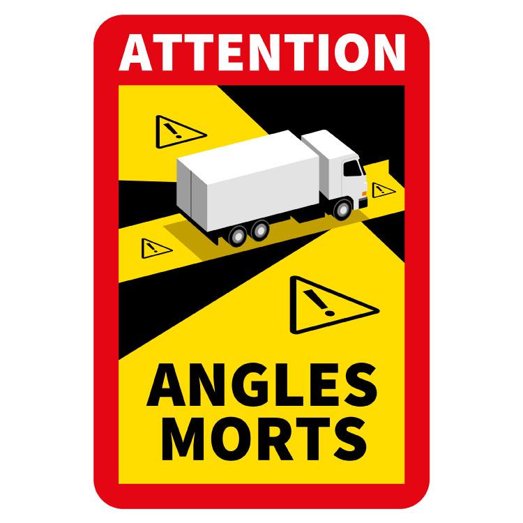 Punto ciego - Adhesivo para camión Attention Angles Morts (17 x 25 cm) (Precio = IVA incluido)
